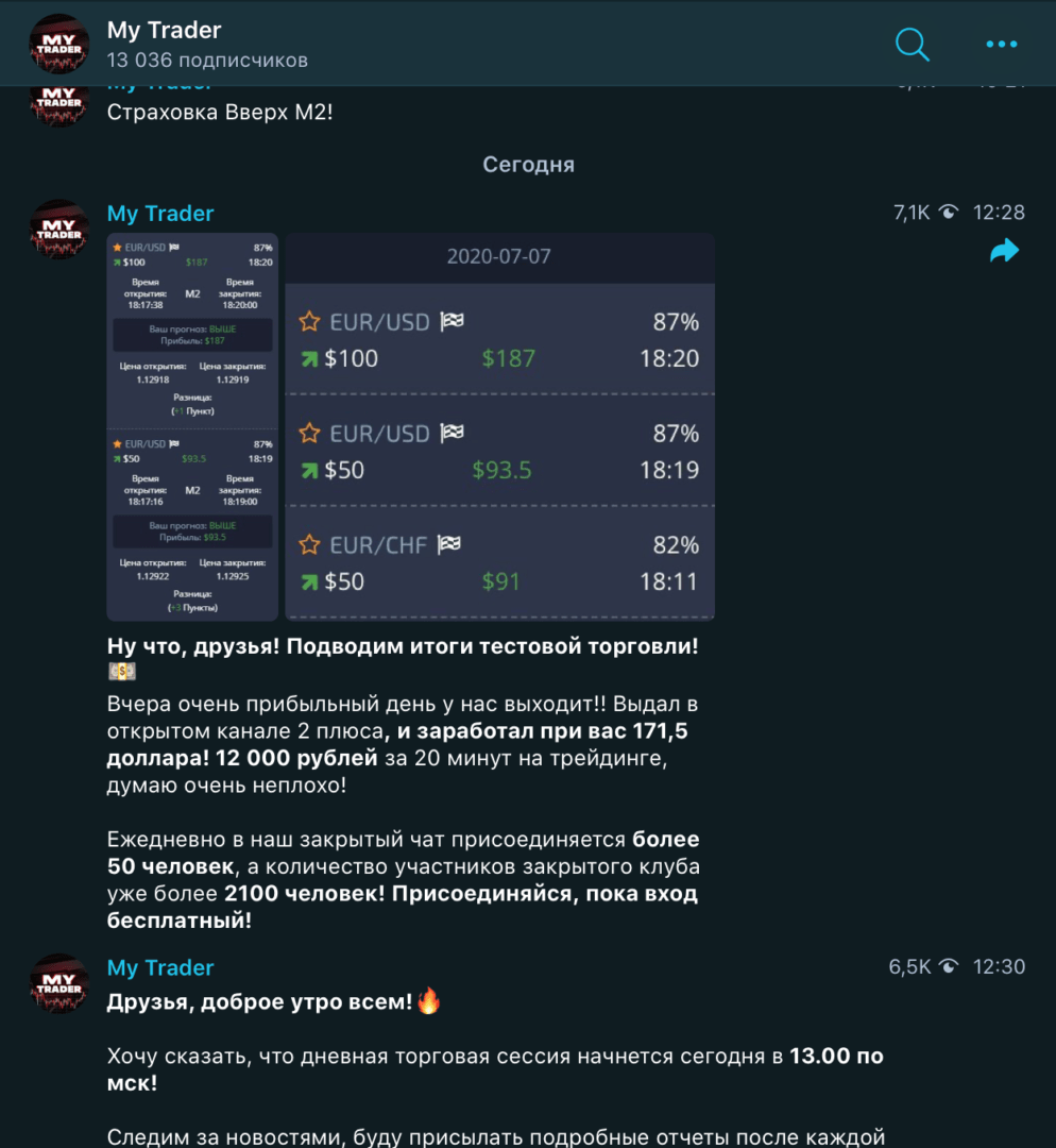 Телеграм канал My Trader