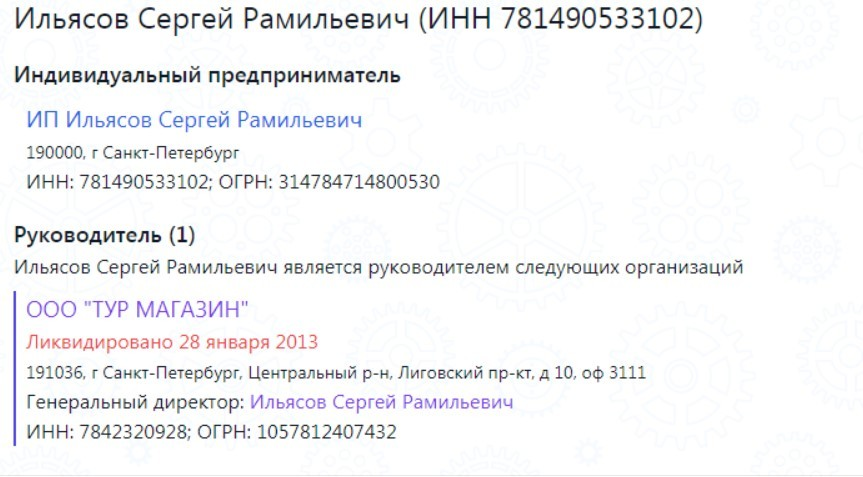сергей ильясов предприниматель