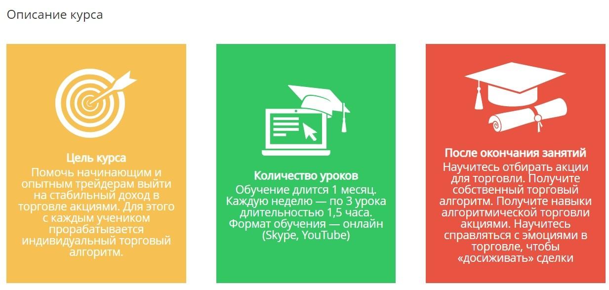Описание курса Сергея Заботкина