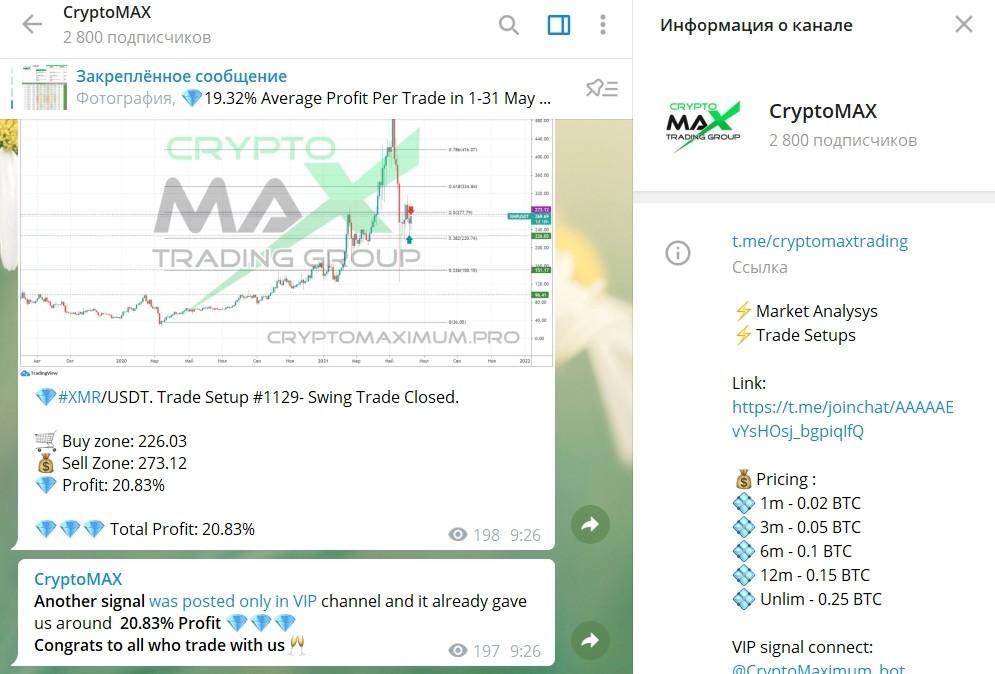 Телеграмм канал Crypto Maximum