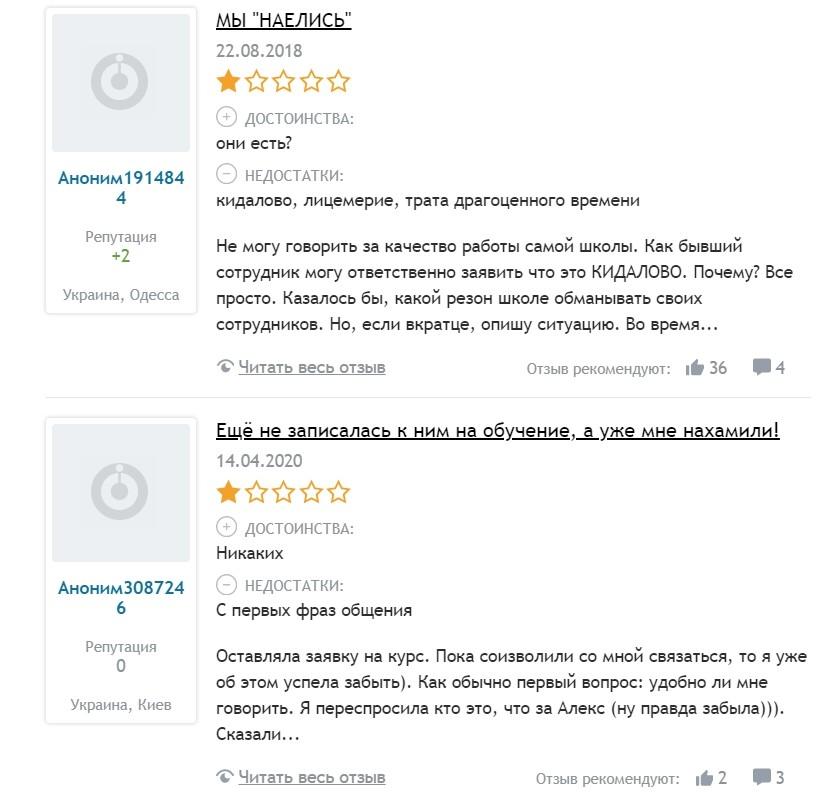 Реальные отзывы о Яновском