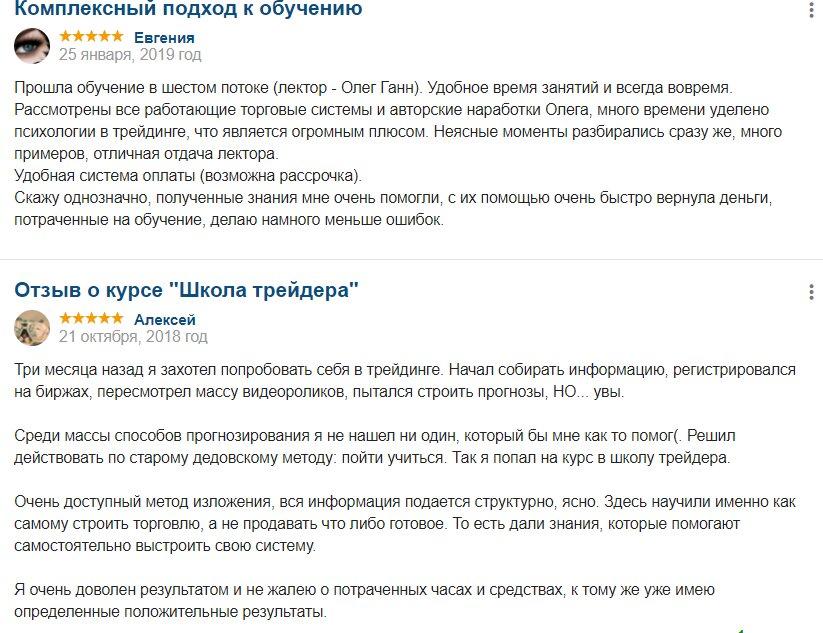 Отзывы о школе Олега Ганна Digital Gate