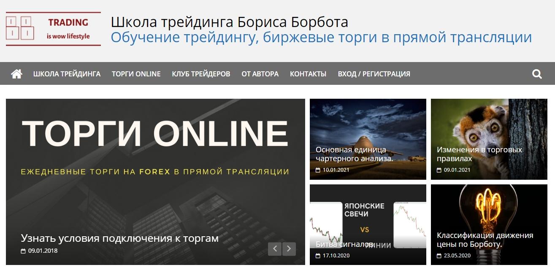 Школа трейдинга Трейдер Бориса Борбота