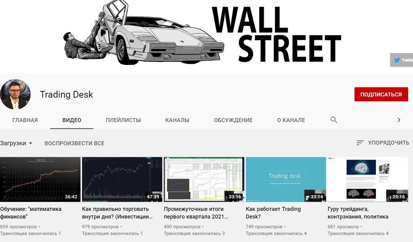 Ютуб канал Trading Desk Артема Бородая