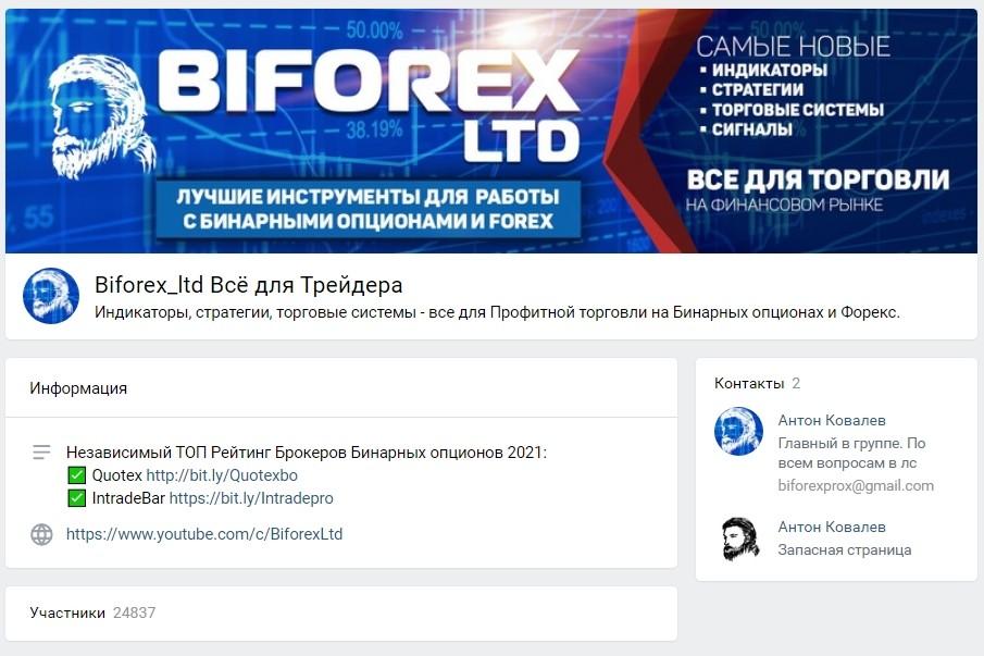 Группа в ВК Biforex Ltd