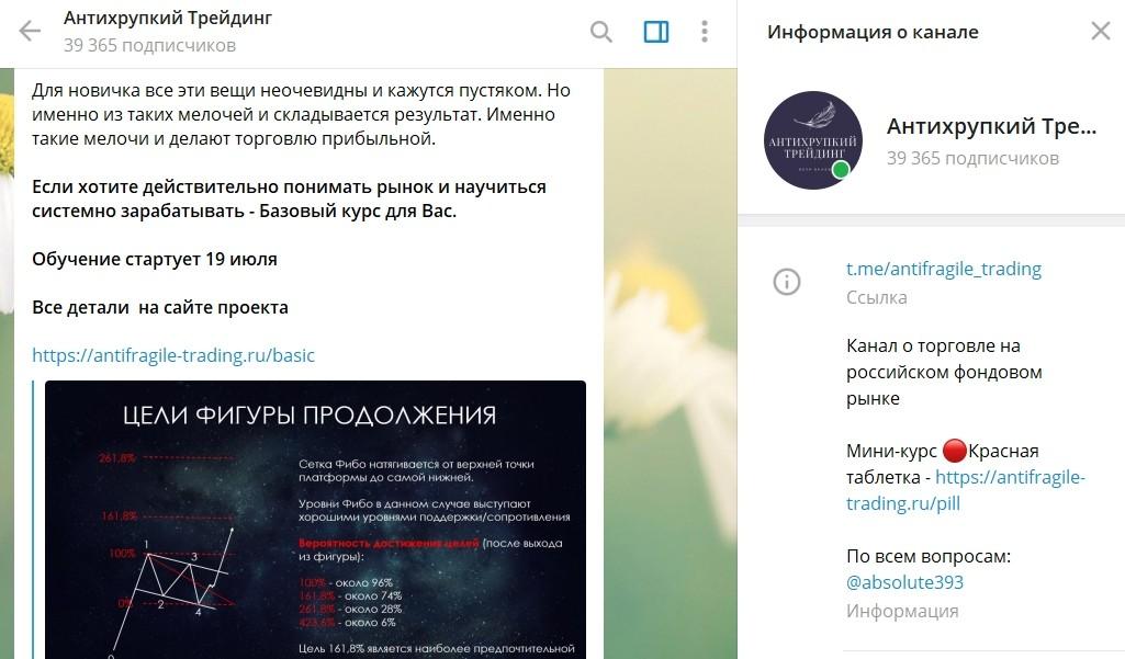 VIP Telegram проекта Антихрупкий трейдинг