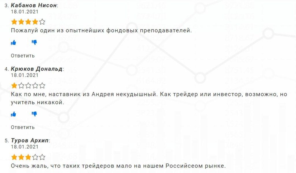 Отзывы о трейдере Андрее Мирном