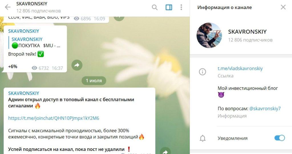 Телеграм-канал Скавронского