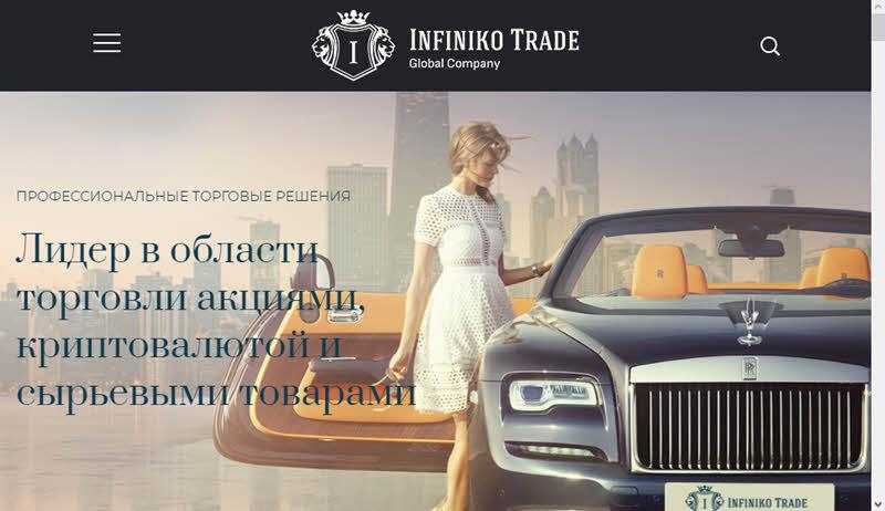 сайт брокере Infiniko Trade