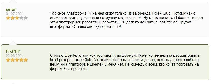 Отзывы о компании Libertex