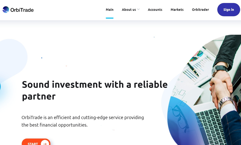 Сайт компании OrbiTrade