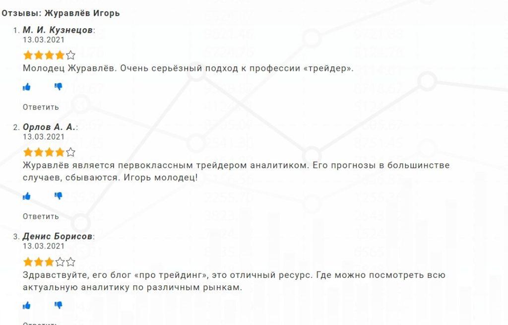 Отзывы о Журавлеве
