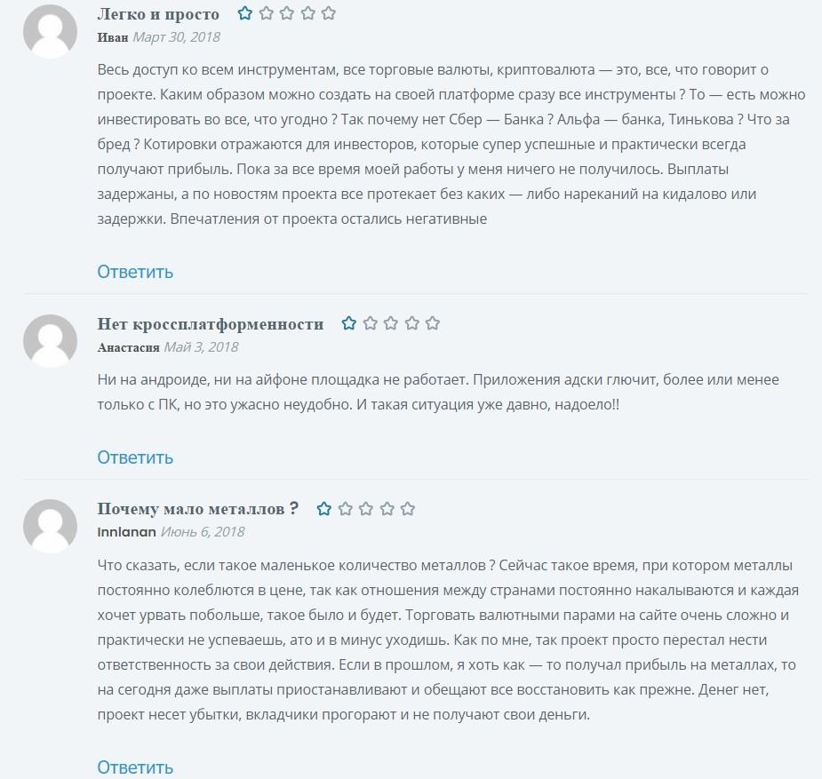 Отзывы о проекте Libertex