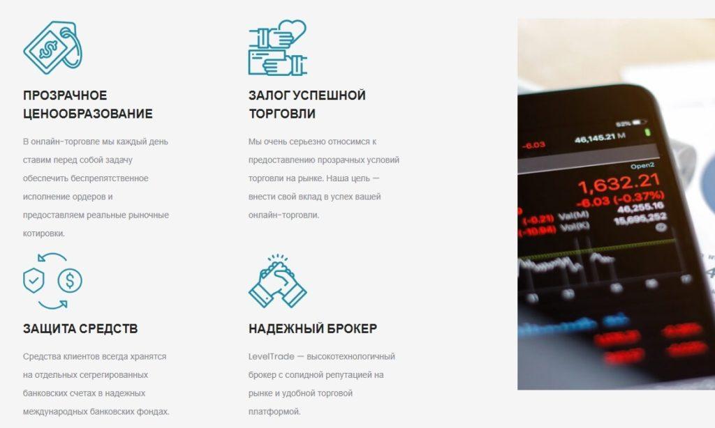 Сайт проекта Level Trade