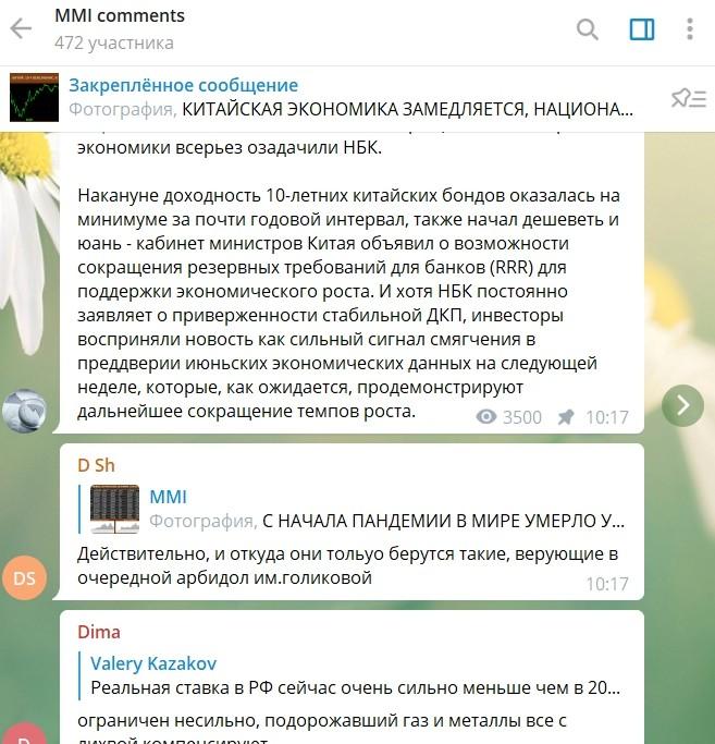 MMI - Телеграмм канал Кирилла Тремасова