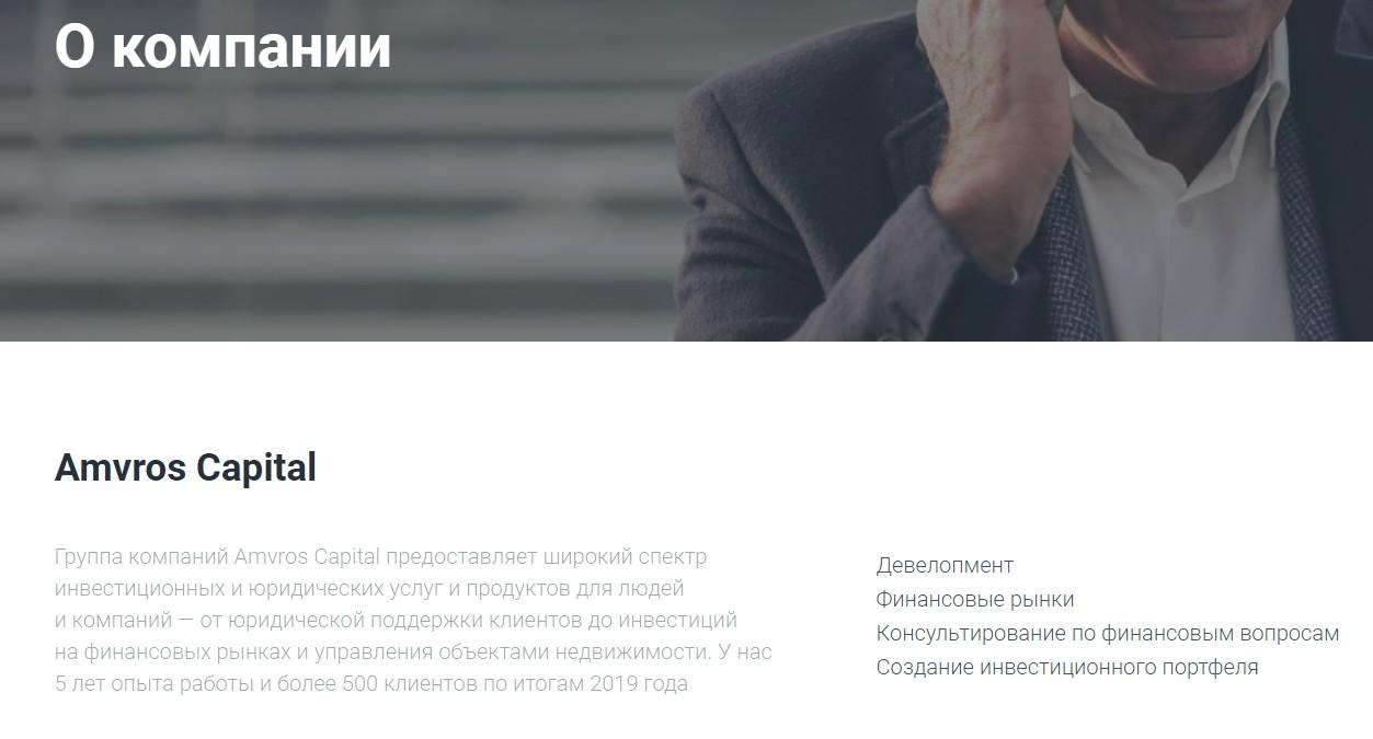 О компании Amvros Capital