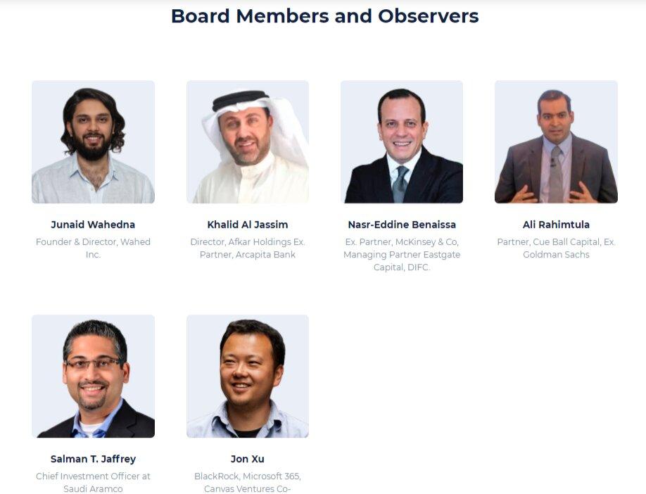 Создатели проекта и другие работники Wahed Invest