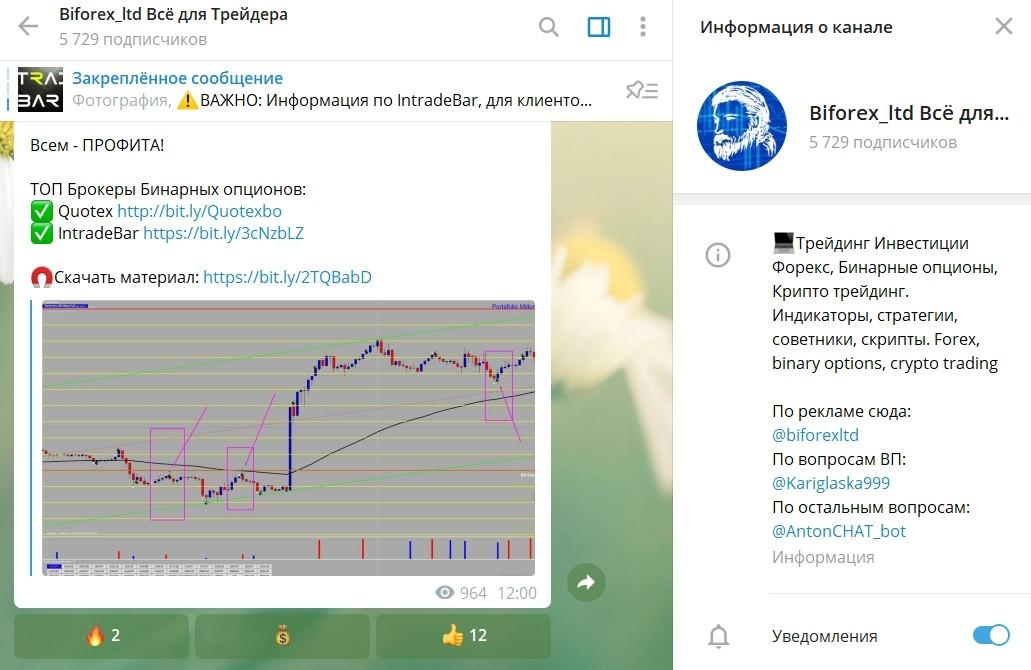 Телеграмм канал Biforex Ltd