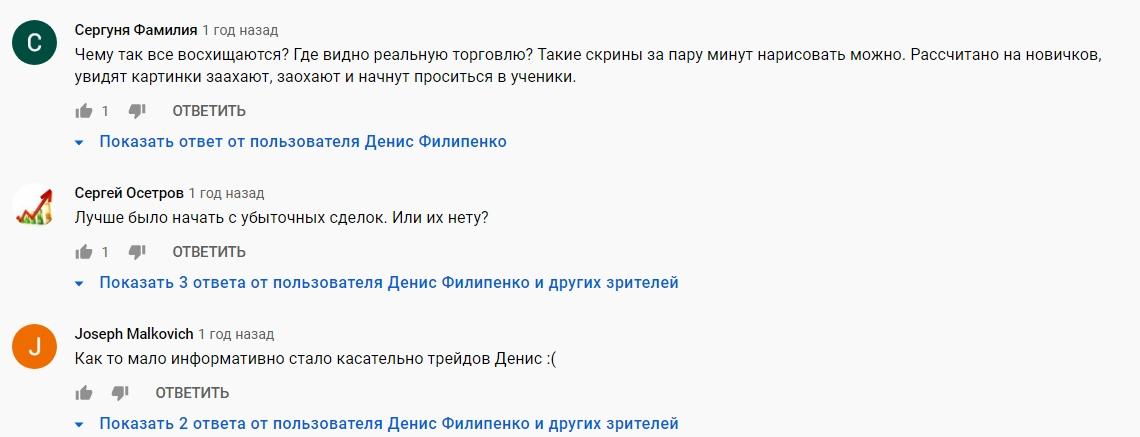 Traderman Дениса Филипенко отзывы