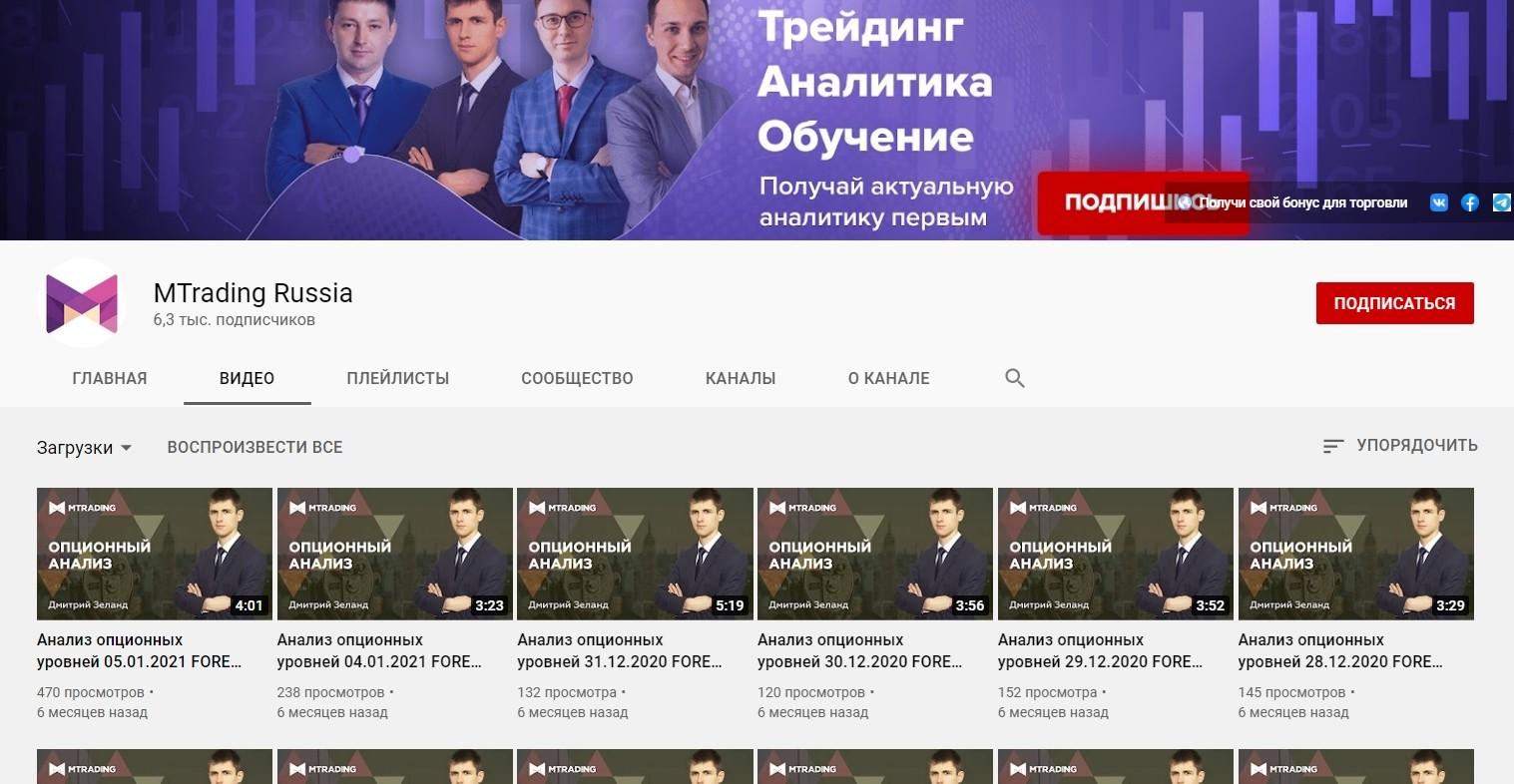 Ютуб канал MTrading
