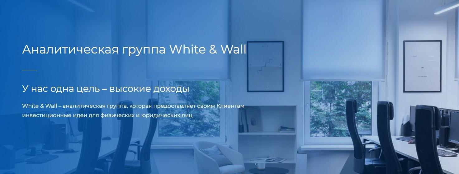 Сайт проекта White and Wall