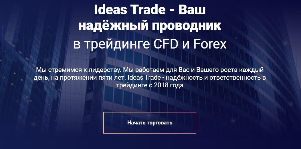 Сайт компании Ideas Trade