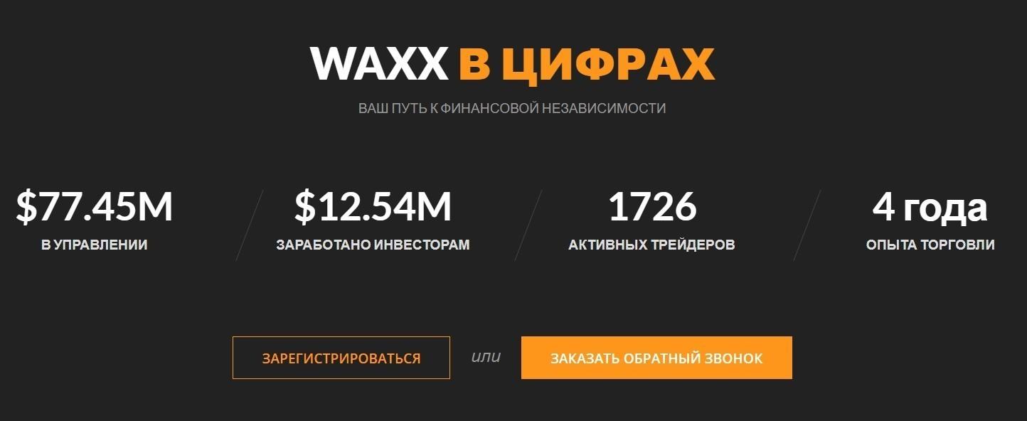 Компания WAXX CAPITAL в цифрах