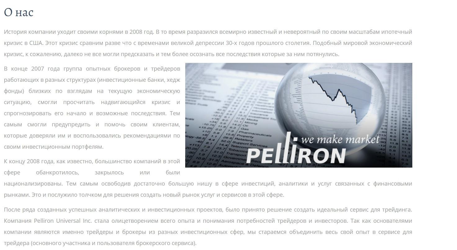 Информация о проекте Pelliron