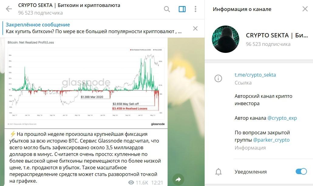 Информация о канале Crypto Sekta