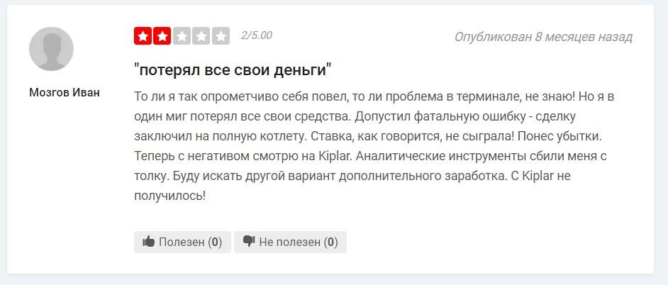 Компания Kiplar отзывы