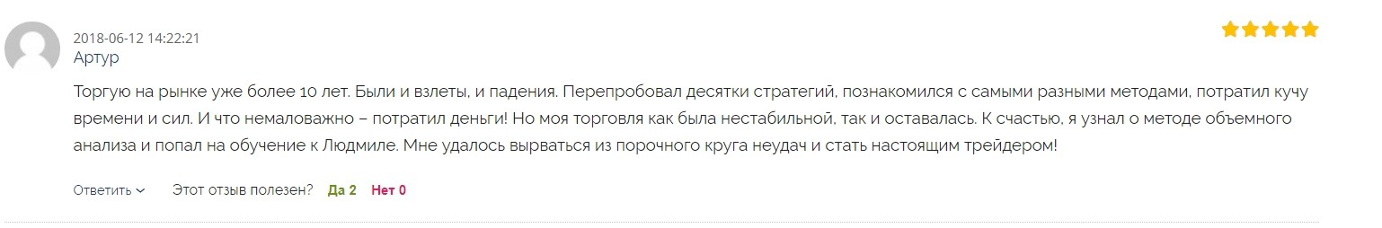 Людмила Вохмянина отзывы