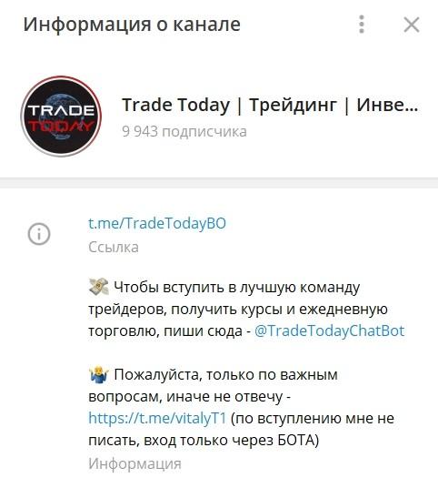 Телеграм Trade Today