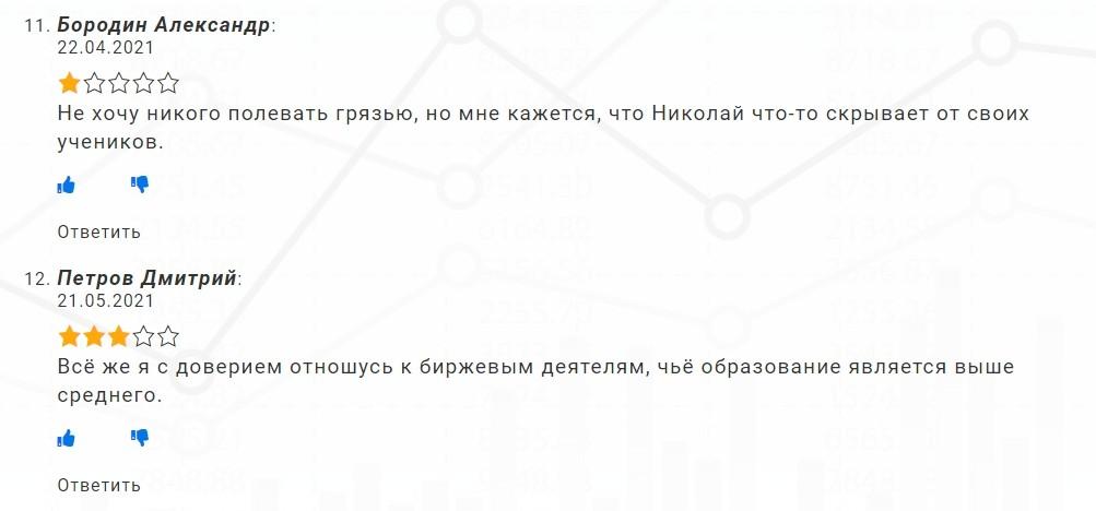 Отзывы об инвестициях Николая Ушакова