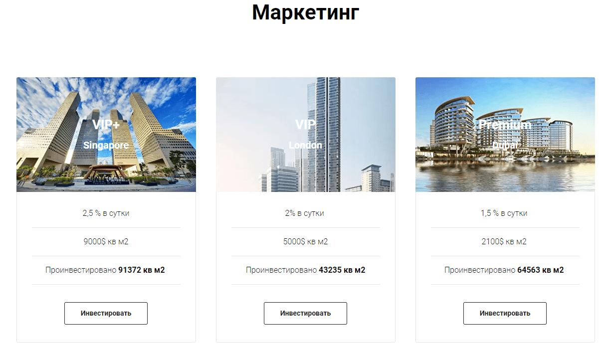 Тарифы инвестора Home Invest.pro