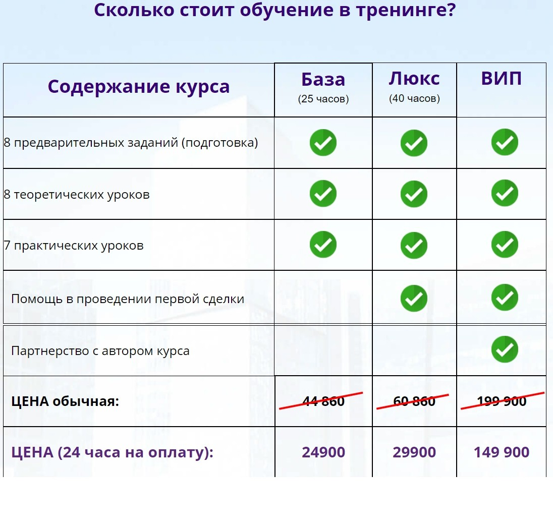 Курс Инвестиции в новостройки Евгения Лебедева