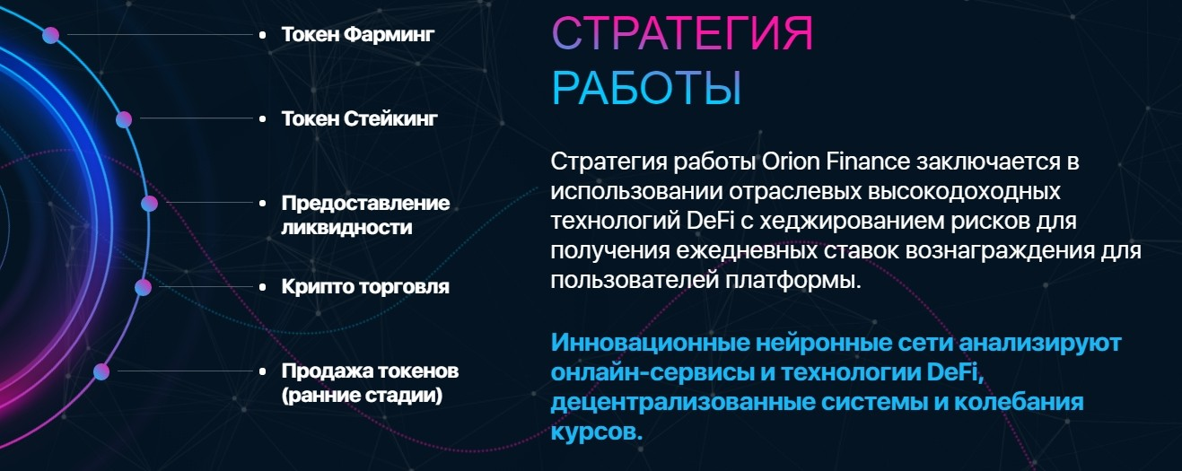 Стратегия работы проекта ORION