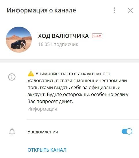 "Телеграм-канал ""Ход валютчика"" трейдера Кирилла Салютина"