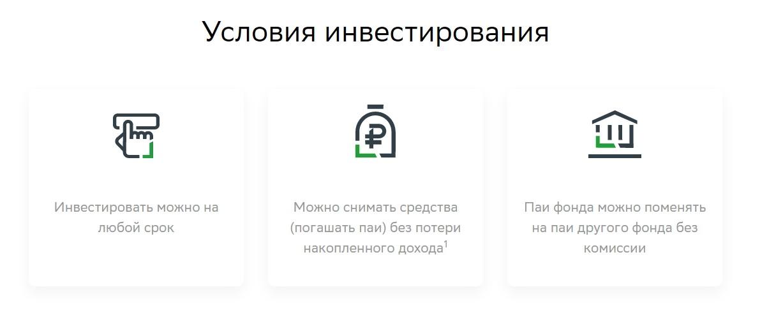 Условия инвестирования в Сбер - Фонд акций Добрыня Никитич